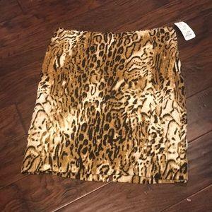Carlisle Leopard Silk Skirt